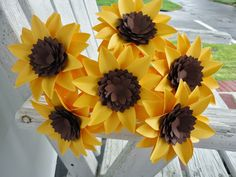 origami sunflower