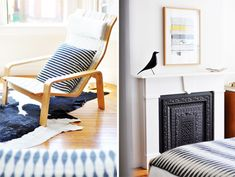 unexpected guests: anna dorfman. / sfgirlbybay. FIREPLACE!