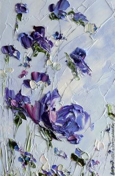 Nature Paintings Beautiful New Ideas Oil Pastel Paintings, Oil Painting Flowers, Nature Paintings, Texture Painting, Flower Paintings, Landscape Paintings, Diy Canvas Art, Acrylic Art, Flower Art