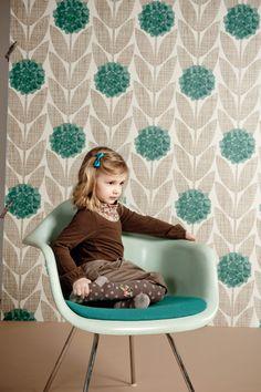 Emerald + brown kids fashion