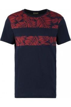 Hombre Camisetas - Selected Homme SHXNICOLAS Camiseta print navy blazer/red ochre