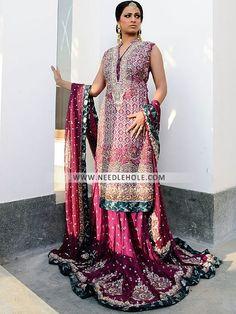 Designer lehenga dress bridal lengha by zainab chottani Shop Pakistani wedding lehenga suits Indian bridal clothes and embellished bridal dupatta by zainab chottani