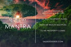 Abundance comes from within. Wake up today and know this with all the certainty within you. #MondayMantra