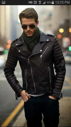Leather, winter look