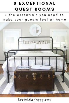 8 Exceptional Guest Rooms + the Essentials You Need to Make Your Guests Feel at Home – Looks Like Happy  #guestroom #guestbedroom #guests #weekend #travel #guestroomideas #guestroomdecor #guestbedroomideas