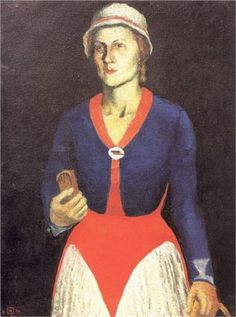 Portrait of the Artist's Wife by Kazimir Malevich