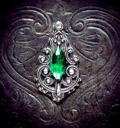 Emerald Bindi tribal fusion bellydance bindi by AuroraEventide