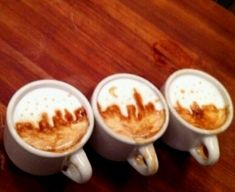 Art within Your Coffee Cup: barista Mike Breach creates complex designs in coffee foam