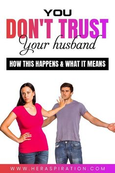 If you're finding it really difficult to trust your husband, then read on for what this could mean and how this usually happens. Click to continue.