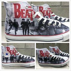 The Beatles Custom Converse All Stars by ArkhamPrints on Etsy, $85.00