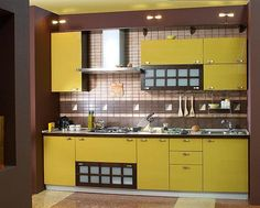 Yellow kitchen colors offer great decorating ideas that brighten up modern kitchen design and bring happy mood into homes