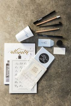 Calligraphy supplies: http://www.stylemepretty.com/living/2015/02/27/the-art-of-hand-lettering/ | Photography: Kathryn McCrary - http://www.kathrynmccrary.com/
