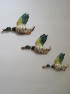 retro flying ducks