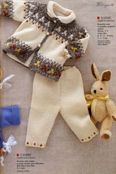 Anny Blatt Bebe Issue 151 – Tricot and Crochet # bebé … - Knitting Baby Knitting Patterns, Knitting For Kids, Knitting Designs, Baby Patterns, Pull Bebe, Boys Sweaters, Baby Cardigan, Vintage Knitting, Pulls