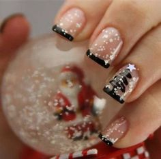 Christmas Nails, Christmas Nail Art and Nail Art Designs 2015 Xmas Nails, Holiday Nails, Red Nails, Simple Christmas Nails, Christmas Tree Nails, Snow Nails, Nagel Hacks, Classy Nail Designs, Christmas Nail Art Designs