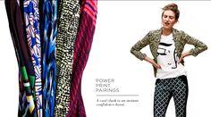 Pre-fall trend: power print pairings