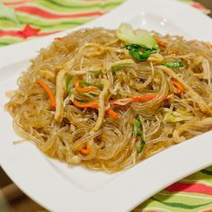 Japchae ~ Korean Glass Noodle Stir Fry