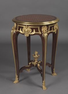 A Rare Gilt-Bronze Mounted Parquetry Gueridon By François Linke, French, Circa 1900. Linke Index No. 1143.