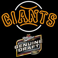 Genuine Draft San Francisco Giants MLB Neon Sign 3 0010, Miller MGD with MLB Neon Signs | Beer with Sports Signs. Makes a great gift. High impact, eye catching, real glass tube neon sign. In stock. Ships in 5 days or less. Brand New Indoor Neon Sign. Neon Tube thickness is 9MM. All Neon Signs have 1 year warranty and 0% breakage guarantee. Mlb Giants, Sports Signs, Beer Signs, San Francisco Giants, Sports Fan Shop, Neon, Tube, 1 Year, Glass