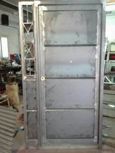 Roof Truss Design, Steel Gate Design, Grill Door Design, Door Gate Design, Modern Entrance Door, Modern Door, Entrance Doors, Steel Security Doors, Diy Garage Storage