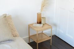 Take an inexpensive bedside table and turn it into a boho design piece by using cane webbing in this easy-to-make DIY.