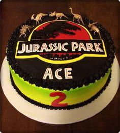 Jurassic Park Birthday Cake,,, my bro would love this