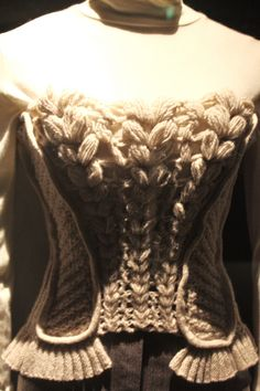 knitted corset