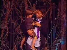 Misha Collins & West (Son)  @ Supernatural Las Vegas 2014 (Main Stage)--- Just the cutest thing to ever cute!!