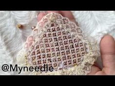 """Hardanger embroidery""""spider's web"""". - YouTube"""