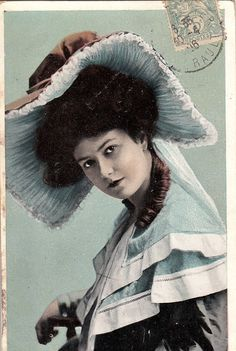 Vintage French Actress Postcard. Romantic by ParisBookandPaper