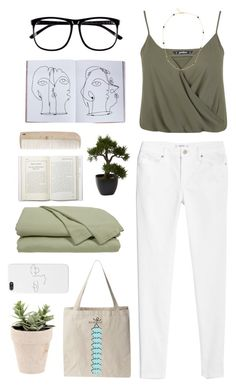 """""""play date"""" by liisam ❤ liked on Polyvore featuring MANGO, Miss Selfridge, Cloud 9, Vanessa Mooney, H&M, Nearly Natural, Assouline Publishing, HAY, white and GREEN"""