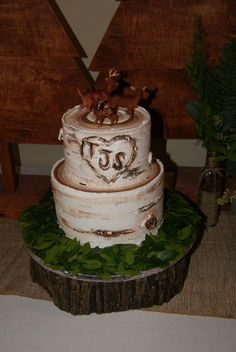 Our woodland baby shower cake
