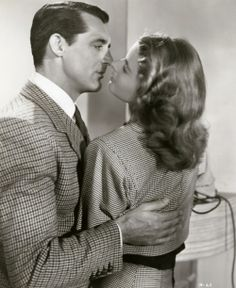 "Cary Grant e Ingrid Bergman en ""Encadenados"" (Notorious), 1946"