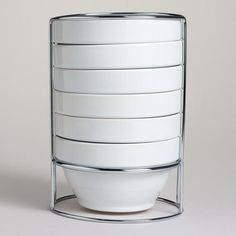 One of my favorite discoveries at WorldMarket.com: White Stacking Bowl, Set of 6