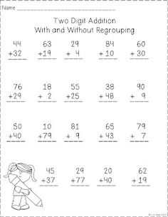math worksheet : 2nd grade math math and second grade on pinterest : 2 Digit Addition With Regrouping Worksheets 2nd Grade