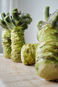 Fresh Real Wasabi in good hands of our friend and Master Chef Taji.