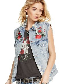 Embroidered Denim Trucker Vest - Denim & Supply  Jackets - RalphLauren.com