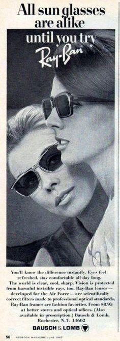 Poster Ray-Ban, June 1967.