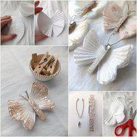 Zrób to sama - Piękne dekoracje z motyli! Zrób to sama!