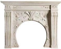 Art Nouveau fireplace.