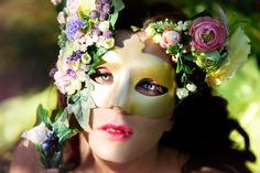 Fairy in the mask of flower