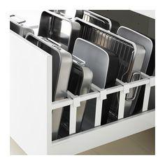MAXIMERA Drawer, high - white, cm - IKEA yes good idea smart. Ikea White Drawers, Ikea Kitchen Drawers, Kitchen Cupboard, Organizing Kitchen Drawers, Kitchen Drawer Organiser, Ikea Drawer Organizer, Ikea Metod Kitchen, Ikea Pantry, Ikea Kitchen Cabinets