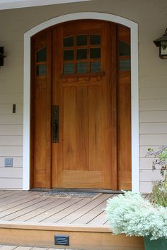 Our front door....will be rectangular instead of arched....but you get the idea!