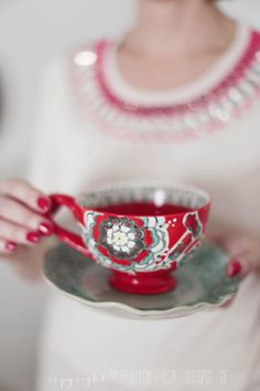 ~Tea cup in red~