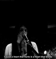 'Cause a heart that hurts, Is a heart that works. - Bright Lights  #placebo #gif #lyrics