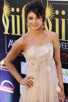 Priyanka Chopra poses during the International Indian Film Academy (IIFA) awards in Singapore on June 9, 2012.