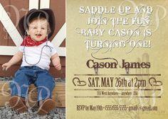 Cowboy Birthday Party. $10.00, via Etsy.