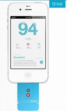 Tinké. Plugs into smartphone. Calculate heart rate variability and do breathing exercises. #HarkuHRV