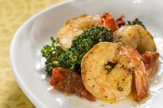 Garlic Shrimp with Tomatoes, Lemon and Broccoli Rabe Recipe from Australia Marketplace at the 2013 Epcot's Food and Wine Festival