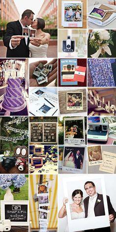 collage con ideas de fotos para tu libro de firmas